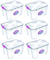 Kit 6 Caixas Organizadoras Transparente 12 Litros - Uninjet -