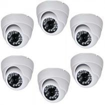 Kit 6 câmera de segurança ccd 24 leds branca 2688 - Powerxl