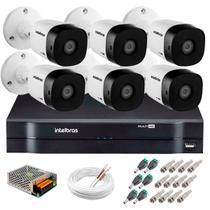Kit 6 Câmeras de Segurança 20m Infravermelho HD 720p VHD 3120B G5 + DVR Intelbras + Acessórios -