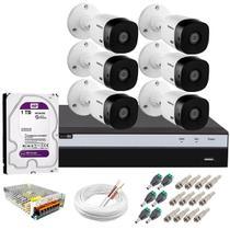 Kit 6 Câmeras de Segurança VHL 1220 B Full HD 1080p 20 metros + DVR Intelbras 1TB purple -