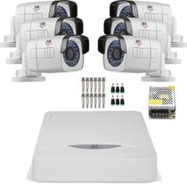 Kit 6 Cameras Full Hd 1080p Bullet Externa Metal 30mts Chd 2130m Jfl - Jfl Alarmes
