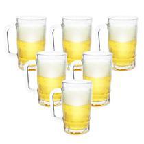 Kit 6 Canecas de Chopp Cerveja de Vidro Grosso 370ml - Wincy