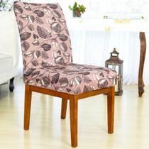 Kit 6 Capa de Cadeira Elastex Mesa Sala Jantar Pluma - Charme do Detalhe