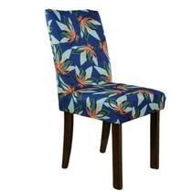 Kit 6 Capa de Cadeira Spandex Mesa Sala Jantar Tropical Azul - Charme Do Detalhe