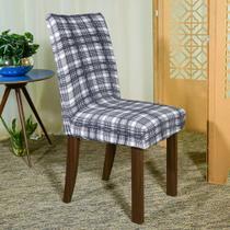 Kit 6 Capa p/ Cadeira Mesa Sala Jantar Malha Spandex Petúnia - Charme do Detalhe