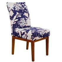 Kit 6 Capas para Cadeira Mesa Sala Jantar Malha Elastex Luxo Dark Blue - Charme do Detalhe