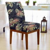 Kit 6 Capas para Cadeira Mesa Sala Jantar Malha Elastex Luxo Pantanal - Charme do Detalhe
