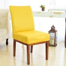 Kit 6 Capas para Cadeira Sala De Jantar Amarelo - Charme Do Detalhe