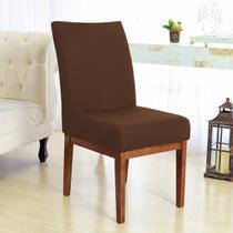 Kit 6 Capas para Cadeira Sala De Jantar Marrom - Charme Do Detalhe