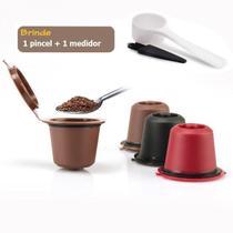 Kit 6 Cápsulas Nespresso Reutilizável Recarregável Sortido + acessórios - Ilovecoffee