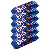 Kit 6 Chocolates Bis Ao Leite - Lacta -