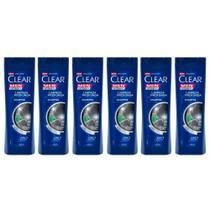 Kit 6 Clear Men Shampoo Limpeza Profunda - 200ml -