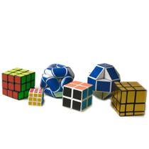 Kit 6 Cubo Mágico Antistress Pirâmide Speed Cubing Brinquedo - Toy King