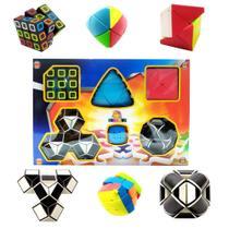 Kit 6 Cubo Mágico Antistress Pirâmide Velocidade Brinquedo - Toy King