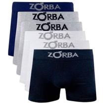 Kit 6 Cuecas Boxer Em Algodão Adulto ZORBA-781 - Sortida -