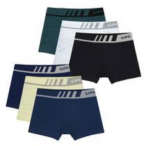 Kit 6 Cuecas Lupo Boxer Sem Costura Microfibra Infantil 136 -