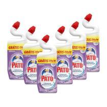 Kit 6 Desinfetante Pato Gel Uso Geral Lavanda Limpeza Profunda 750ml -