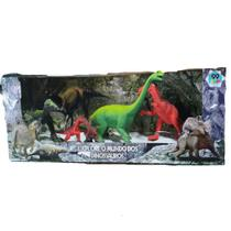 Kit 6 Dinossauro para crianças Dino e dragão De Borracha Brinquedo Infantil Vermelho - Emporio Magazine