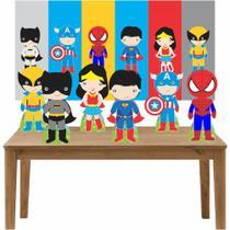 Kit 6 Displays de Mesa e Painel Heróis Baby - Inove Adesivos