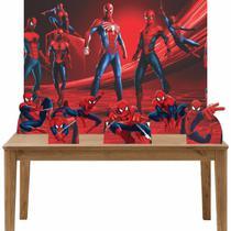 Kit 6 Displays de Mesa e Painel Homem Aranha - Inove Adesivos