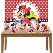Kit 6 Displays de Mesa e Painel Minnie Vermelha - Inove Adesivos