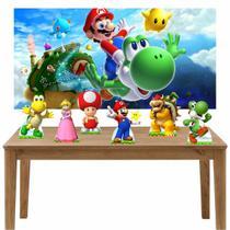 Kit 6 Displays de Mesa e Painel Super Mario - Inove Adesivos