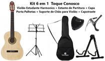 Kit 6 em 1 Toque Conosco -  Meu 1º Violão - Harmonics