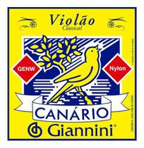 Kit 6 Encordoamento Violão Nylon Média Canário Cristal GENW - Giannini