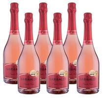 Kit 6 Espumantes Garibaldi Brut Rosé Pinot Noir 750ml -