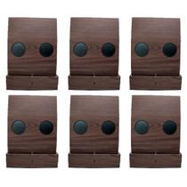 Kit 6 Esteiras Bandejas Flexiveis c/ Porta Copos e Porta Controle - Tabaco - Maison de lele