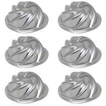 Kit 6 Forma Bolo Mini Vulcão Em Alumínio 10,3x3,5cm - Goldpan Formas