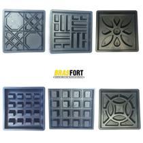 KIT 6 Formas Elemento Vazado Cobogó 39x39x7 cm -Diversas - Brasfort