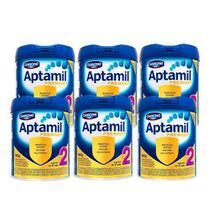 KIT 6 FORMULA INFANTIL APTAMIL 2 - 800 gr -
