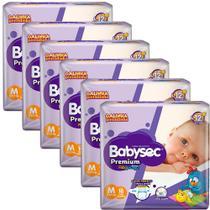 Kit 6 Fralda BabySec GALINHA PINTADINHA Premium - M - 108 unids - Experimente e se Surpreenda - Softys