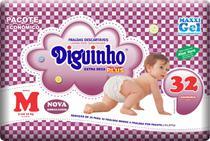 Kit 6 Fraldas Diguinho Plus Economica M - 32 Unidades Revenda -