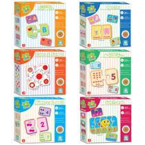 Kit 6 Jogos Educativos Pedagógicos Em Madeira Nig Brinquedos -