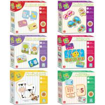 Kit 6 Jogos Em Madeira Educativos Pedagógicos Nig Brinquedos -