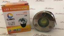 kit 6 Lampada LED Chão 3W Solo COB Balisadora Escada Piso Redondo Quente - Cbc