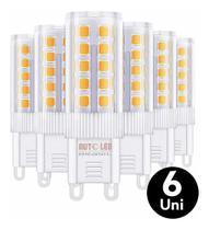 Kit 6 Lâmpada Led Halopim G9 5w P/ Arandelas E Lustres - SAIME