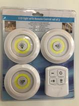Kit 6 Lampada Luminaria Cob Led Spot Sem Fio C/ Controle Remoto - Cbc