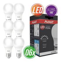 Kit 6 lampadas led pera br6500k 200 9w-e27 274061374 biv - Avant