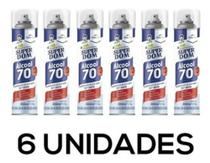 Kit 6 Latas Alcool 70 Spray 300ml - Super Dom - Aerosol Multiuso - Dom  Line