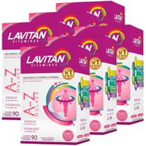 Kit 6 Lavitan Mais A-z Mulher Polivitamínico 90 Comprimidos - Cimed