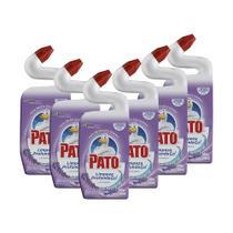 Kit 6 Limpador Sanitário Pato Gel Lavanda Limpeza Profunda 500ml -