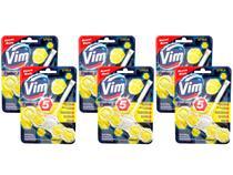 Kit 6 Limpador Sanitário Vim Citrus Poder x5 Unilever 55g -
