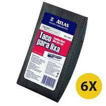 Kit 6 Lixador Taco Macio Retangular Borracha 130x70 Atlas -