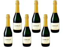Kit 6 Lunar Espumante Vinho Branco Doce Stile Moscatel 660ml -