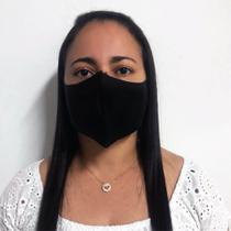 Kit 6 Mascara de tecido Proteção Neoprene Lavável Cor Preto - Scápole