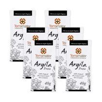 Kit 6 Máscaras de Argila Preta Orgânica 40g  Terramater -