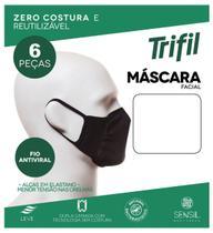 Kit 6 Máscaras Trifil Zero Costura Dupla Camada W06103 -